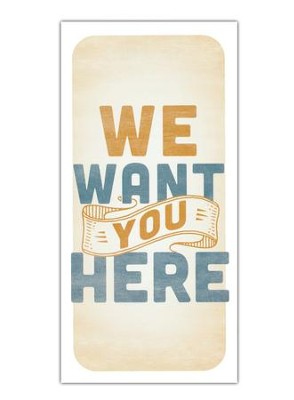 We Want You Here - Guest Card (Pack of 50)  -