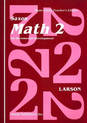 Saxon Math 2, Home Study Teachers Edition   -