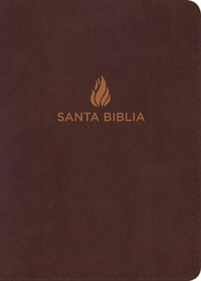 RVR 1960 Giant-Print Reference Bible--bonded leather, brown (indexed)  -