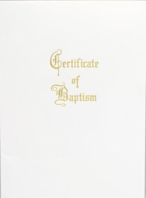Traditional Steel-Engraved Adult/Youth Baptism Certificate (Package of 3)  -