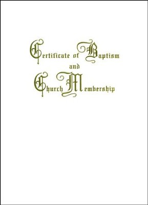 Traditional Steel-Engraved Baptism and Church Membership Certificate (Package of 3)  -
