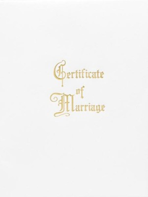 Traditional Steel-Engraved Marriage Certificate (Package of 3)  -
