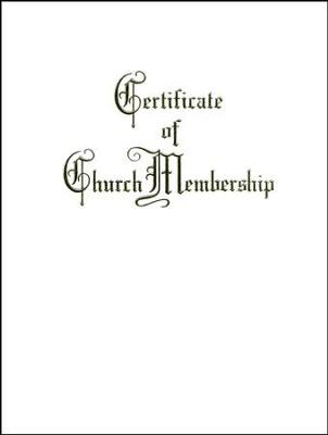 Traditional Steel Engraved Church Membership Certificate Package Of 3