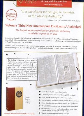 Webster's Third New International Dictionary, Unabridged   -