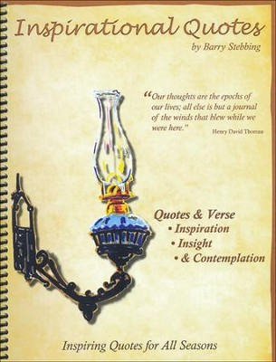 Inspirational Quotes (Spiralbound, 2013 Release)   -     By: Barry Stebbing