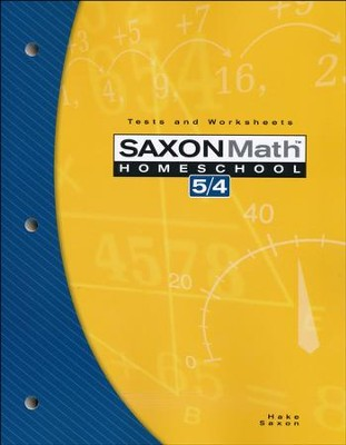 Saxon Math 5/4 Tests and Worksheets, 3rd Edition    -