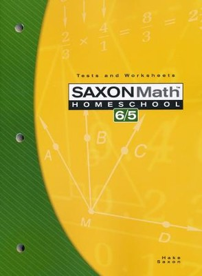 Saxon Math 6/5, 3rd Edition, Tests & Worksheets       -