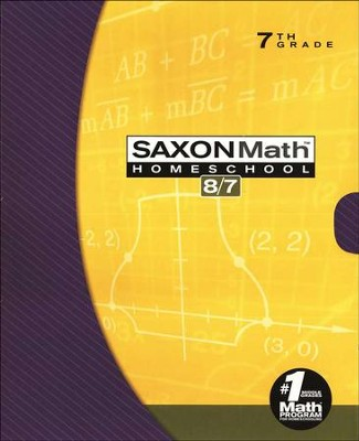 Saxon Math 8/7, Third Edition, Home School Kit in a Retail Box    -