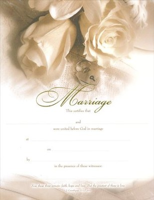Roses, Embossed Marriage Certificates, 6                     -