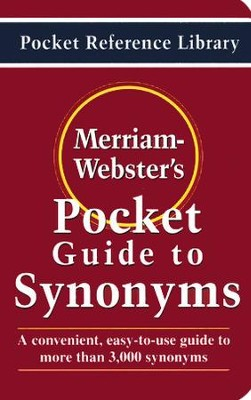 Merriam-Webster's Pocket Guide to Synonyms   -