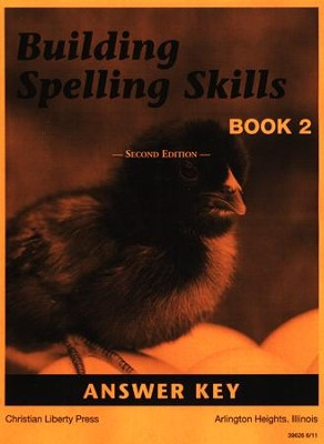 Building Spelling Skills Book 2 Answer Key, Grade 2    -