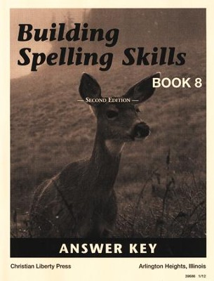 Building Spelling Skills Book 8 Answer Key, 2nd Edition, Grade 8    -