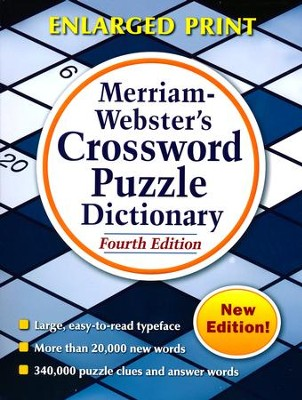 Merriam-Webster's Crossword Puzzle Dictionary, Enlarged Print/New Edition  -