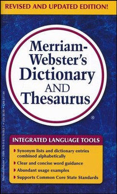 Merriam-Webster's Dictionary and Thesaurus (Revised and Updated Edition)  -