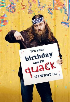 Duck Dynasty, Willie Sign Birthday Cards, Pack of 6  -