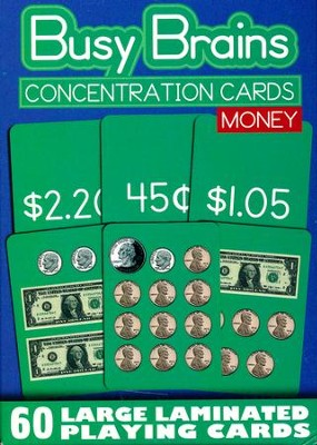 Concentration Cards: Money (Package of 60)   -
