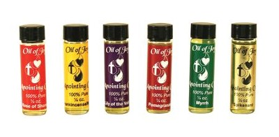 Anointing Oil, 1/4 ounce, Assorted, 6 Pieces  -