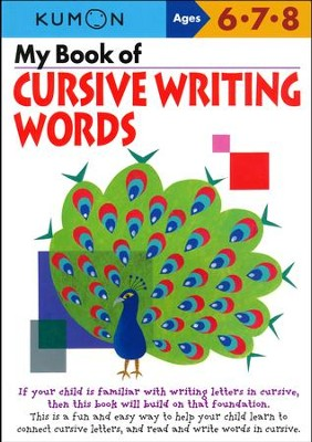 My Book of Cursive Writing: Words  -