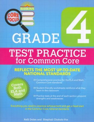 Grade 4, Test Practice for Common Core  -     By: Kelli Dolan, Stephali Chokshi-Fox