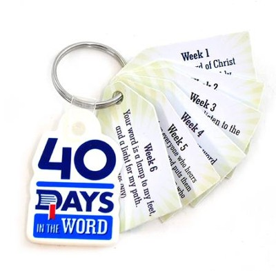 40 Days in the Word Key Tags - Pack of 25   -