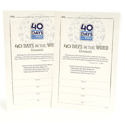 40 Days in the Word--Covenant Card (pack of 25)  -
