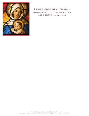 I Bring Good News Christmas Nativity Letterhead 2015 (Package of 50)  -