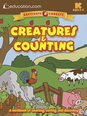 Creatures and Counting Workbook, 3rd Grade  -