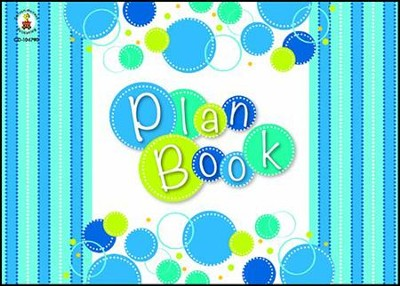 Bubbly Blues Plan Book  -