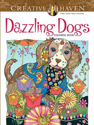 Dazzling Dogs Adult Coloring Book  -     By: Marjorie Sarnat