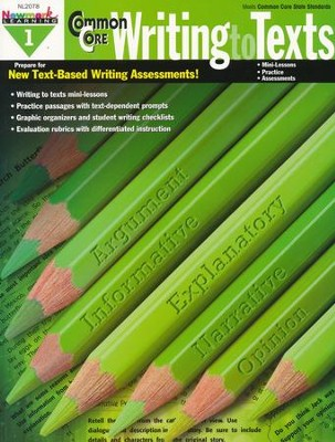 Common Core Practice Writing to Texts Grade 1  -
