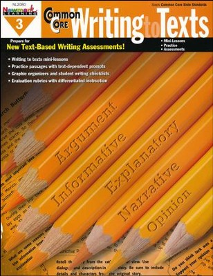 Common Core Practice Writing to Texts Grade 3  -