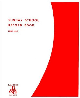 Sunday School Record Book, Form 183-S  -