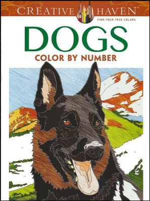 Dogs Color by Number Coloring Book  -     By: Diego Pereira