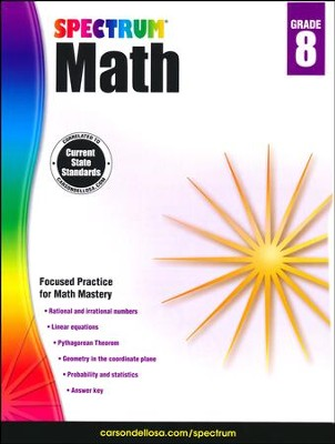 Spectrum Math Grade 8 (2014 Update)  -