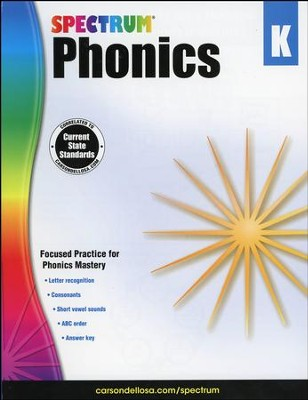 Spectrum Phonics & Word Study Grade K (2014 Update)  -
