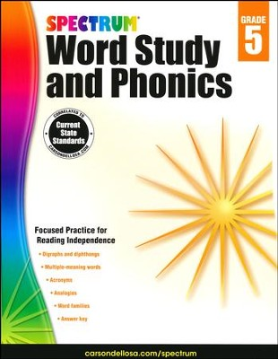 Spectrum Phonics & Word Study Grade 5 (2014 Update)  -