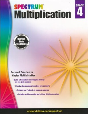 Spectrum Multiplication Grade 4  -