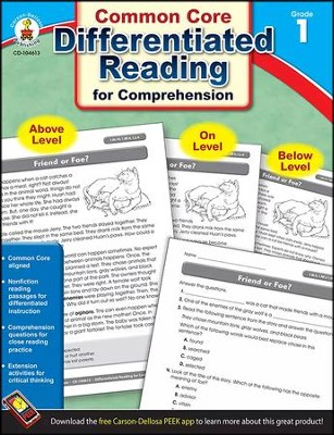 Differentiated Reading for Comprehension, Grade 1  -