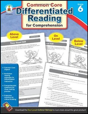 Differentiated Reading for Comprehension, Grade 6  -