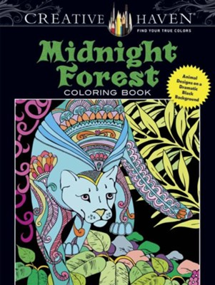 Midnight Forest Coloring Book: Animal Designs on a Dramatic Black Background  -     By: Lindsey Boylan