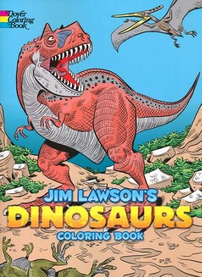 Jim Lawson's Dinosaurs Coloring Book  -     By: Jim Lawson