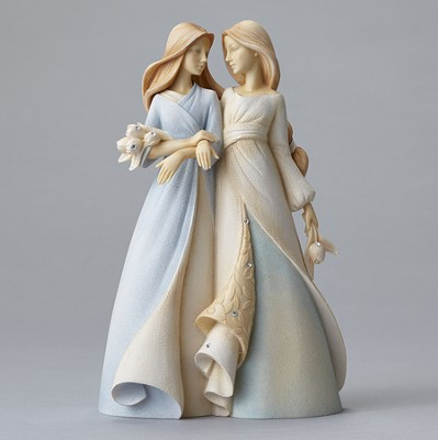 Sister to Sister Figurine, It Was So Nice Growing Up With Someone Like You  -     By: Karen Hahn