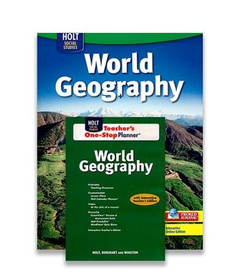 Holt McDougal World Geography Homeschool Package   -