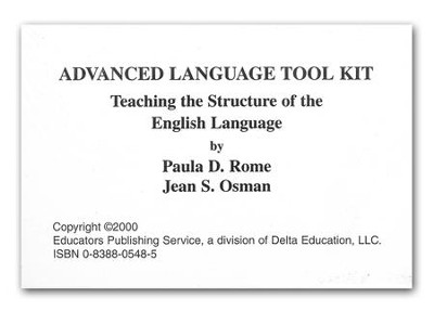 Advanced Language Tool Kit (Cards Only)  -