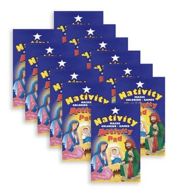 Nativity Activity Pads, Pack of 12   -