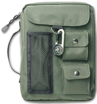 Compass Bible Cover Olive Green Medium   -