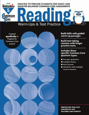 Common Core Reading Warm-Ups and Test Practice Grade 5  -