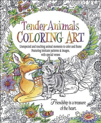 Tender Animals Coloring Art  -