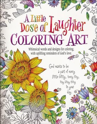 A Little Dose of Laughter Coloring Art  -