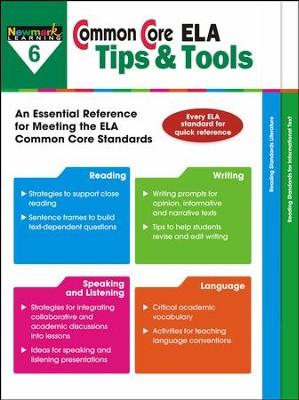 Common Core ELA Tips & Tools Grade 6  -
